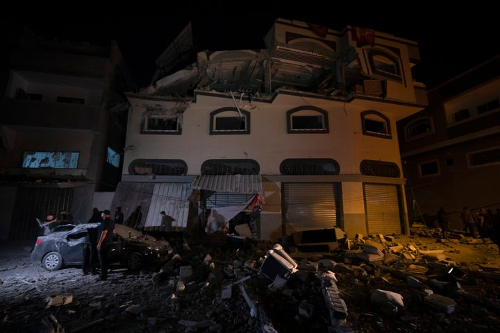 The Israeli military says it struck the Gaza City house to take out a commander from the Islamic Jihad group.