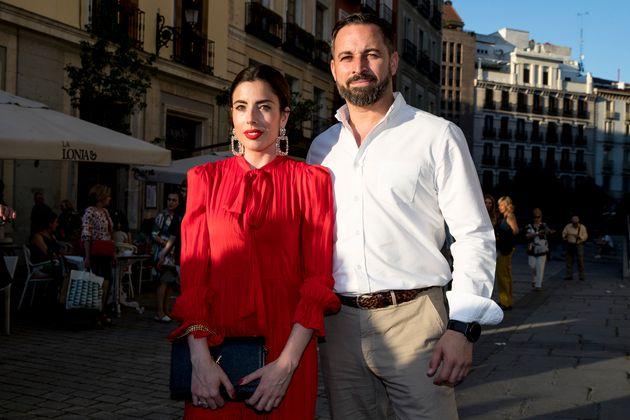 Lidia Bedman y Santiago Abascal, en el concierto de Bertín Osborne el 6 d eenero de 2019 en