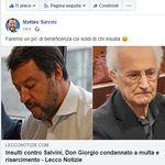 Diffamò Salvini: Don Giorgio De Capitani condannato. Dovrà pagare 7500 euro di