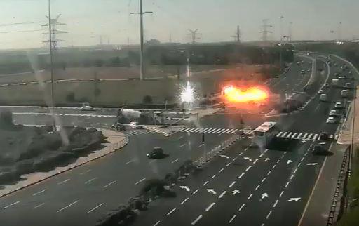 Ce mardi 12 novembre au matin, une roquette s'est abattue sur une autoroute israélienne, sans faire de