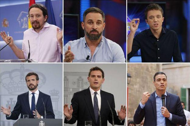 Los principales candidatos en las elecciones del