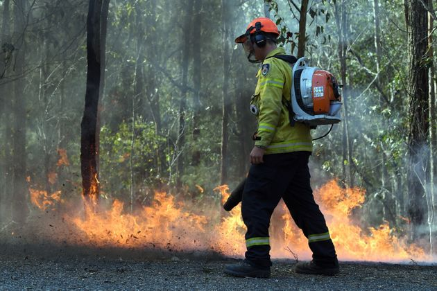 The bushfire, believed to have been sparked by a lightning strike, has ravaged an area of over 2,000...