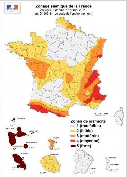 La carte des 10 plus gros séismes en France métropolitaine depuis