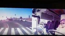 Il razzo cade sull'autostrada di Gan Yavne, in Israele: l'esplosione ripresa dalla dash