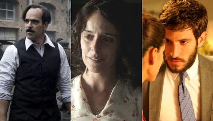 Luis Tosar en 'La sombra de la ley'; Belén Cuesta en 'La trinchera infinita'; Quim Gutiérrez en '3 bodas de más'.