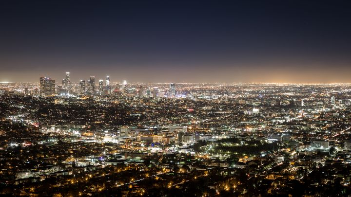 Los Angeles at night.