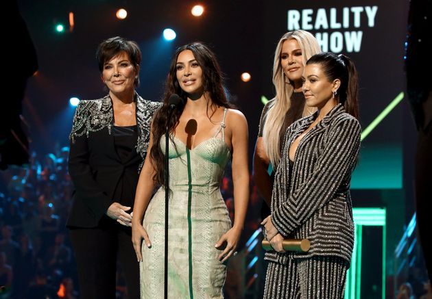 Kris Jenner, Kim, Khloe and Kourtney Kardashian accept the Reality Show of 2019 for