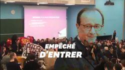 Une conférence de Hollande annulée après une manif