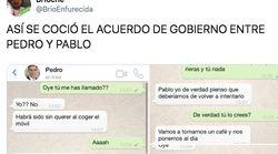 La conversación ficticia de WhatsApp sobre cómo se fraguó el acuerdo que arrasa en