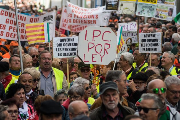 Manifestación de pensionistas en