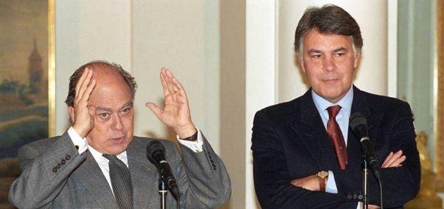 Felipe González y Jordi Pujol en 1994 cuando eran presidente del Gobierno y de la Generalitat, respectivamente,...