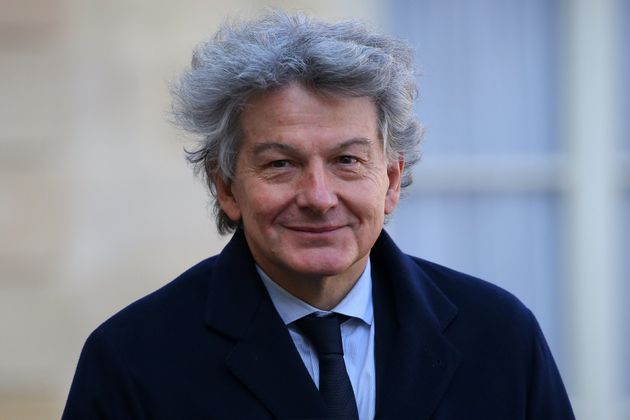 Atos Chairman and CEO Thierry Breton arrives for a meeting at the Elysee Palace in Paris, France, February...