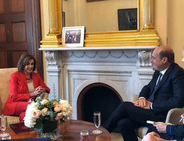 """Zingaretti negli Usa vede Nancy Pelosi: """"Rilanciare l"""