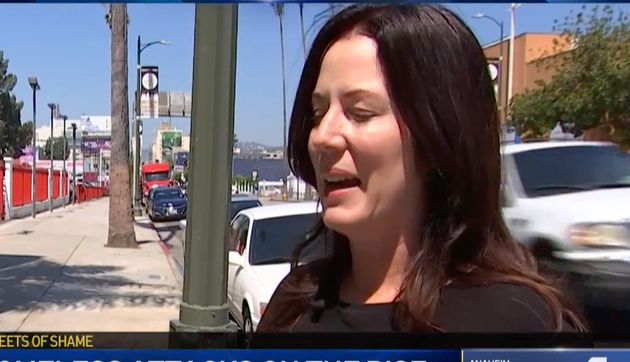 Heidi Van Tassel described to KNBC TV how a man attacked her in Los Angeles seven months