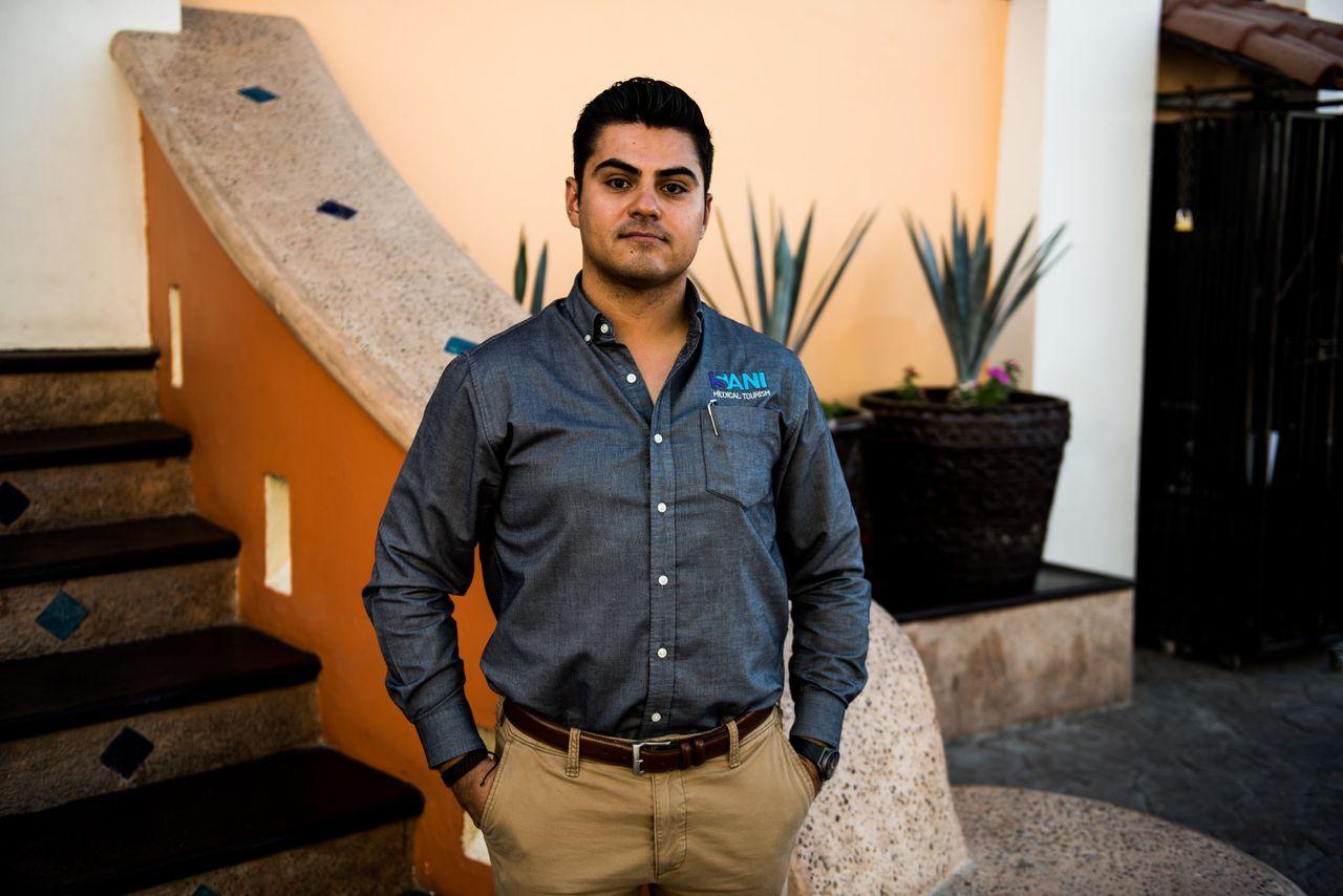 Alejandro Gutiérrez, 33, COO of Sani Dental Group in Los Algodones, Baja California, Mexico on Oct. 23, 2019.