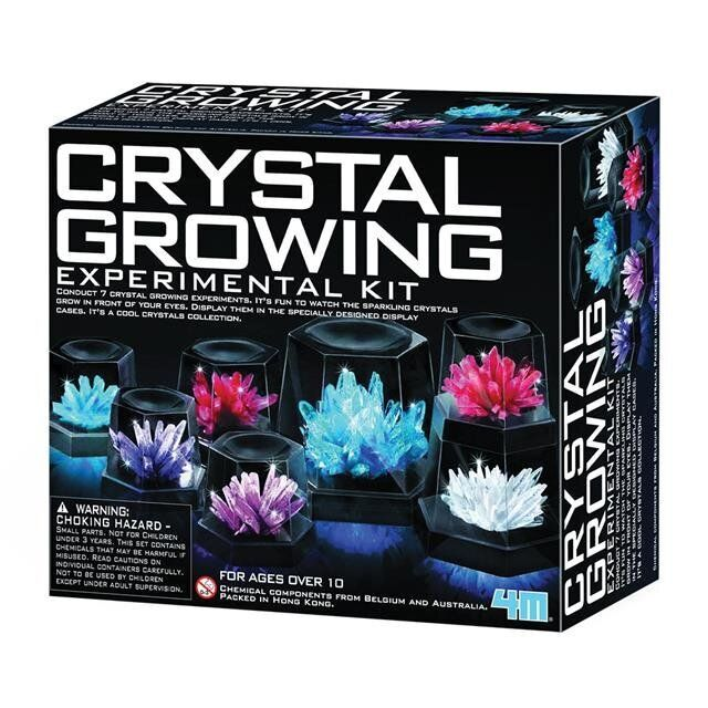 Grow seven crystals of varying sizes with this kit from Mastermind Toys.