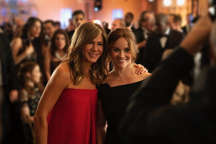 """Aniston and Reese Witherspoon in """"The Morning Show."""""""