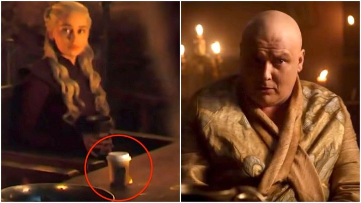 Did Varys leave the coffee cup in the shot?