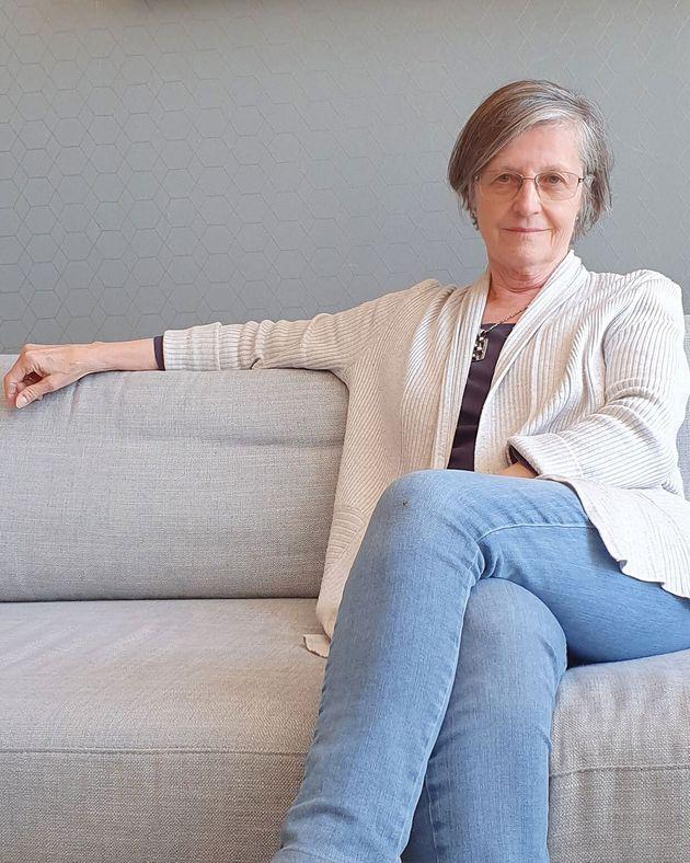 Julia Boyd, autora de 'Viajeros en el Tercer Reich', en el hall del hotel Riu de Madrid,...