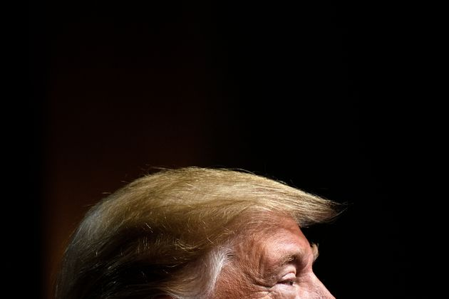 US President Donald Trump speaks at the Economic Club of New York at the New York Hilton Midtown November...