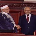 En attendant l'élection du président de l'ARP: Abdelfattah Mourou passe la main à Rached Ghannouchi au perchoir pour la séanc...