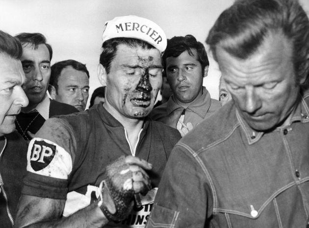 Raymond Poulidor abandonne le Tour de France 1968 le 15 juillet