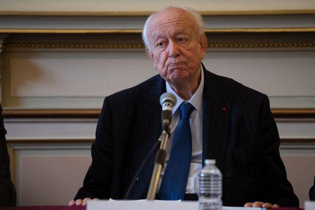 Jean-Claude Gaudin lors de la conférence de presse donnée un an après le drame de...
