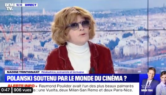 Les arguments de Nadine Trintignant pour défendre Roman Polanski indignent