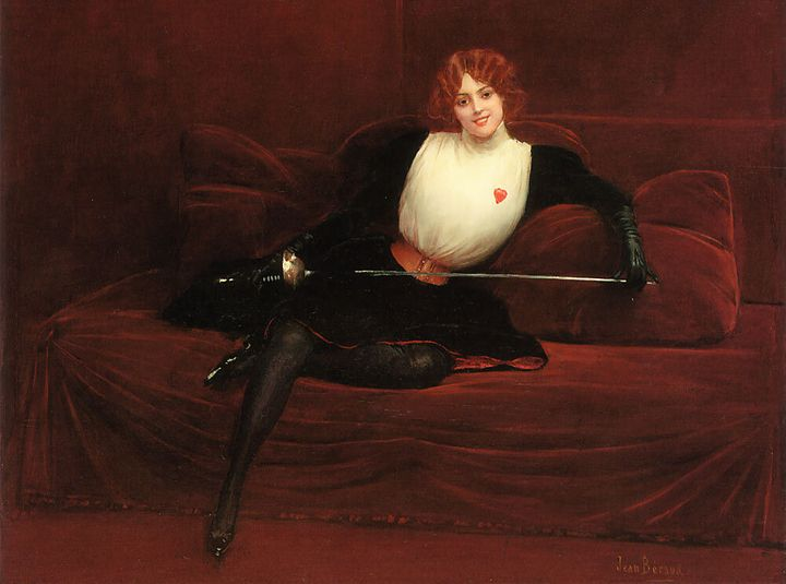 Julie d'Aubigny, en un cuadro de Jean Béraud.