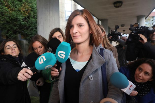 La exmujer de El Chicle, Rosario Rodríguez, a su llegada este miércoles a los juzgados de Santiago de