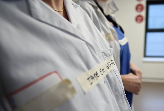 Personnel hospitalier en grève