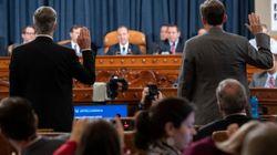 Diplomats Tie Trump To Ukraine Scheme In First Day Of Impeachment