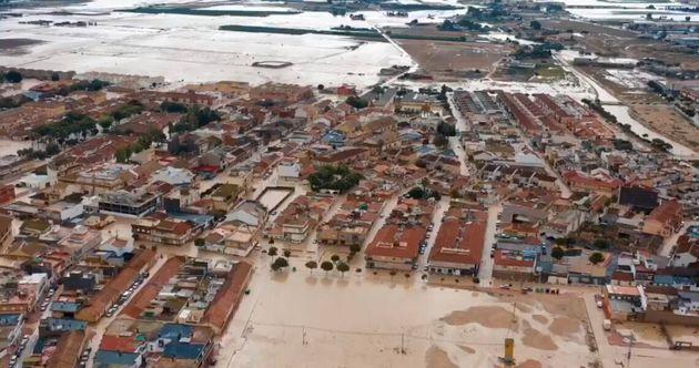 Efectos de la DANA en Torre Pacheco. Región de