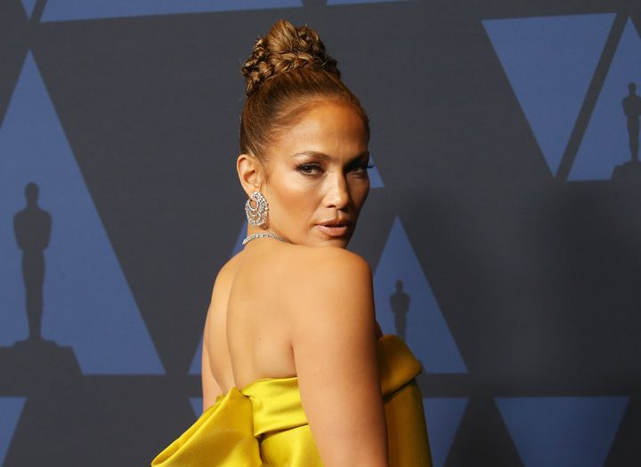 Jennifer Lopez arrives at the annual Governors Awards ceremony, hosted by Academy of Motion Picture Arts and Sciences, on Oct