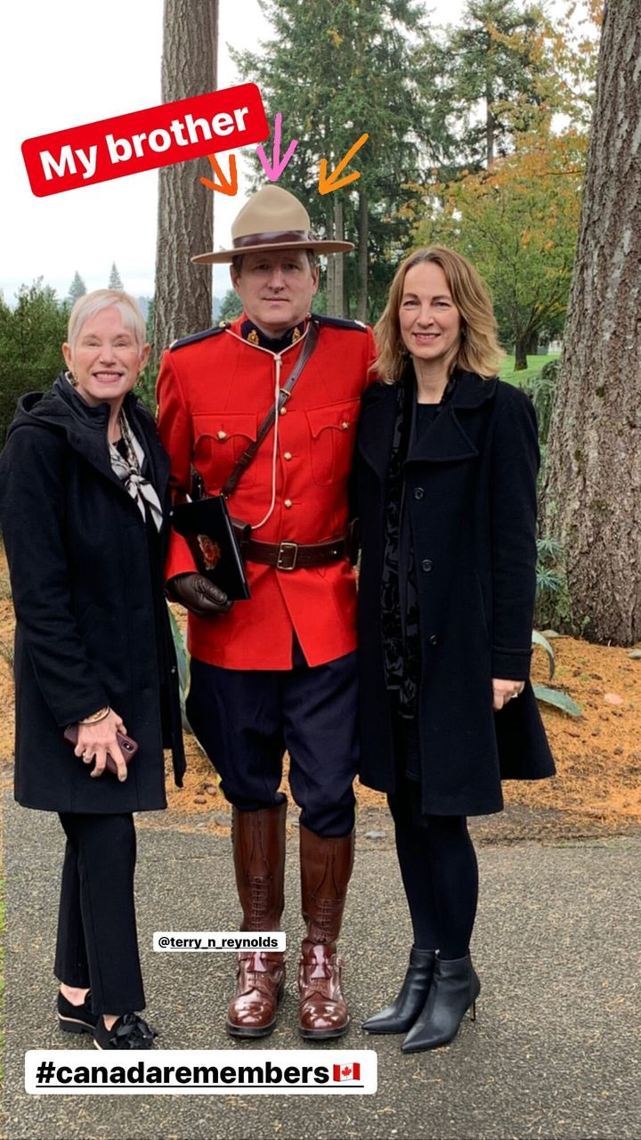 Ryan Reynolds posted this photo of his brother Terry, a Mountie.