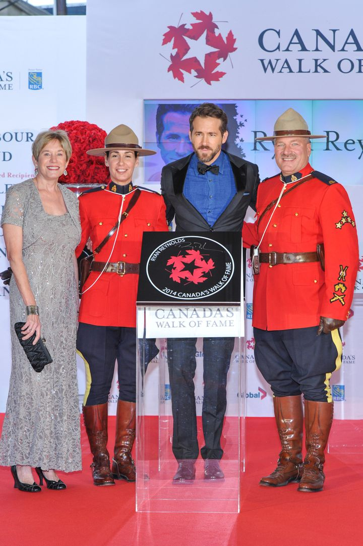 Ryan Reynolds with his mother at the 2014 Canada's Walk Of Fame Awards in Toronto.