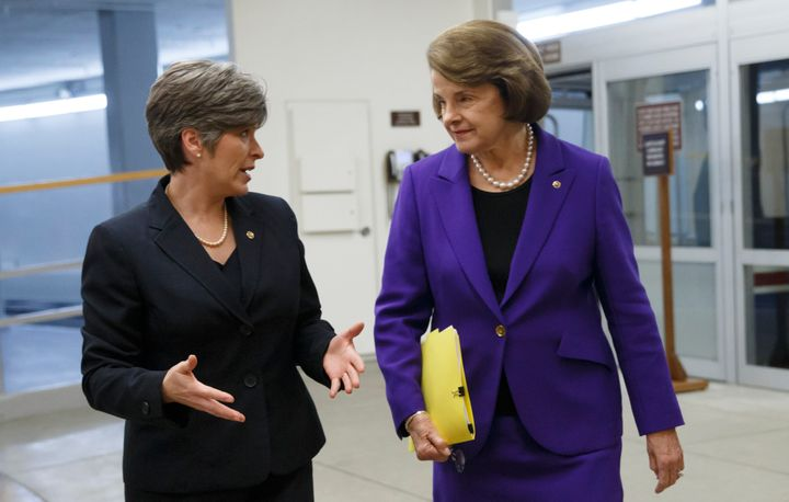 Sens. Joni Ernst (R-Iowa) and Dianne Feinstein (D-Calif.) were trying to find a bipartisan way forward on reauthorizing the V