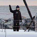 Greta Thunberg rentre chez elle à bord d'un catamaran peu