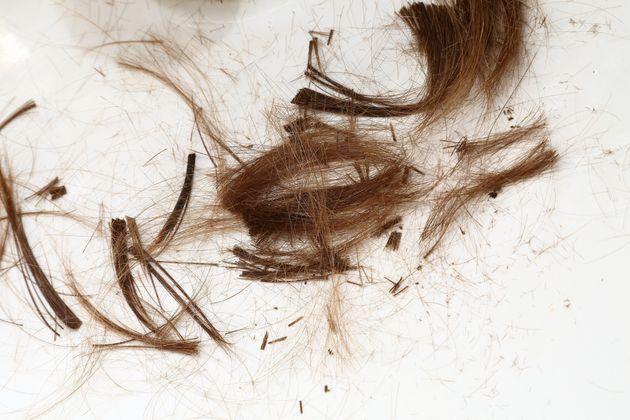 Cut hair on the