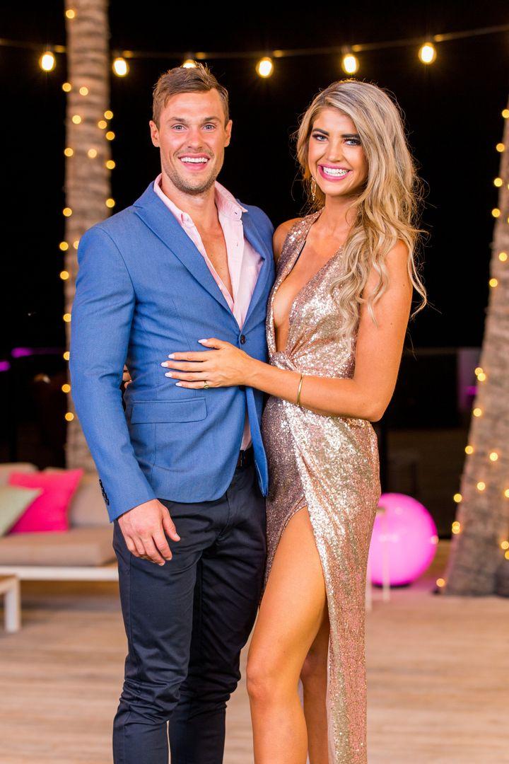 2019 Love Island Australia winners Josh Packham and Anna McEvoy.