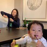 배우 이미도의 남다른 육아 사진, '엄마의 개인생활'
