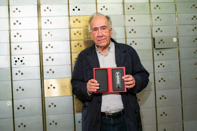 El escritor Joan Margarit, en la Caja de las Letras del Instituto Cervantes el 4 de noviembre de 2019...