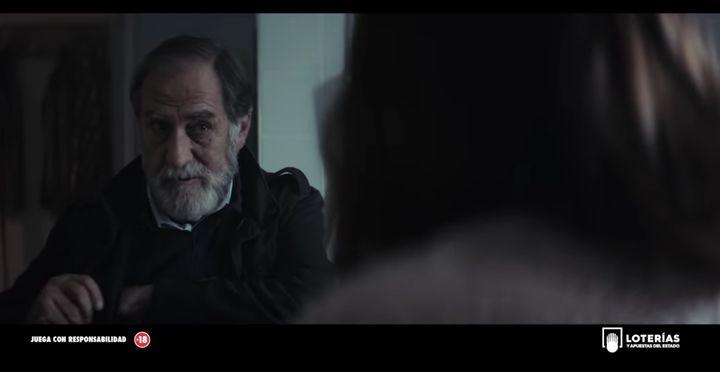 Ramón Barea en uno de los anuncios de la Lotería de Navidad de 2019.