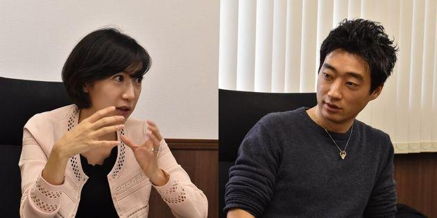 村上絢さん(写真左)と今井紀明さん