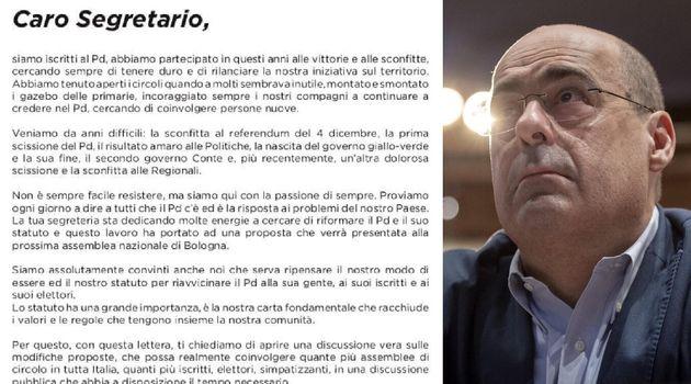 La lettera di 300 militanti Pd a Zingaretti: