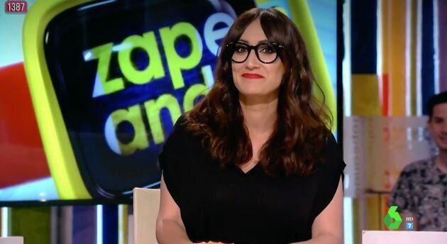 La presentadora Ana Morgade cuando colaboraba en