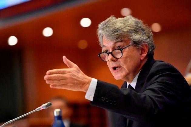 Thierry Breton devant les eurodéputés ce jeudi 14