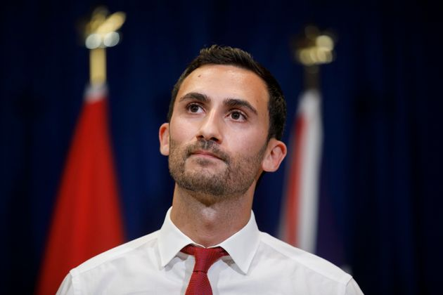 Ontario Minister of Education Stephen Lecce speaks at a press conference on Oct. 6,