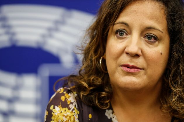 Spain's Iratxe Garcia Perez, president of the group of the Progressive Alliance of Socialists and Democrats,...