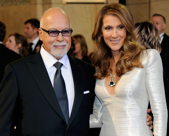 René Angélil and Celine Dion at the 83rd Annual Academy Awards, Feb. 27, 2011.